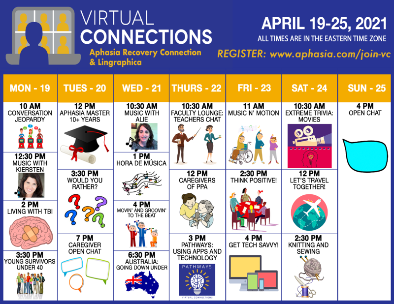 virtual connections schedule_apr19-25_2